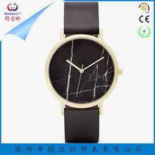 稳达时订制高档不锈钢石英表时尚休闲高端大理石表面镶钻礼品表