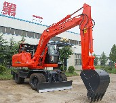 厂家直销山重轮式挖掘机150-8图片