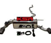 宝马320改装排气管中尾段可变阀门KSR排气图片