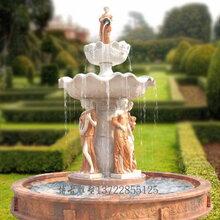 石雕喷泉欧式人物石雕喷泉深圳石雕水钵喷泉雕塑图片