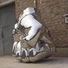 镜面仿真不锈钢拳头雕塑河北博古雕塑
