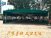 南通海门市大型仓库雨蓬伸缩移动推拉蓬户外活动帐篷停车遮阳蓬