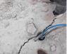 山東濟寧破碎石頭開裂爆破機路面拓寬挖基坑破碎堅硬巖石機械