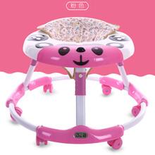 新款婴儿学步车宝宝助步车卡通灯光音乐早教折叠防侧翻PU静音轮图片