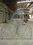 重庆刀片刺绳防护网BTO-22热镀锌刀片刺防盗网小区监狱刺绳图片