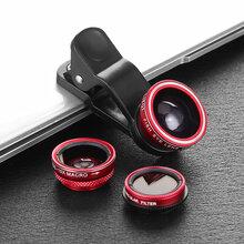 獵奇手機LQ-008廣角鏡頭+魚眼鏡頭+微距鏡頭+濾光鏡4合1圖片