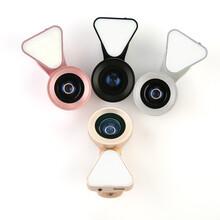 LQ035廣角鏡頭0.6x+15x微距三合一美顏補光燈,獵奇廠家專供,高清視野圖片