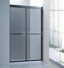 厂家非标定做304不锈钢隔断门卫浴一字形屏风钢化玻璃简易淋浴房