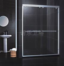 304不锈钢简易淋浴房防爆钢化玻璃卫浴房一固一移屏风隔断浴室