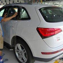 车窗车身都要保养,奥迪Q5车窗贴龙膜漆面sonax纳米镀晶