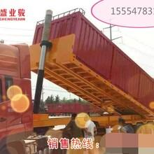 平板后翻半挂车10米和集装箱后翻自卸半挂车价格图片