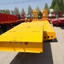 新款12米13米低平板运输半挂车报价价格及参数图片