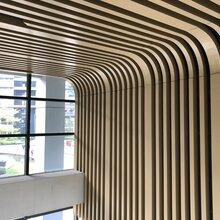 仿木纹四方管幕墙铝方通型材系列铝方管易博仕装饰建材厂家图片