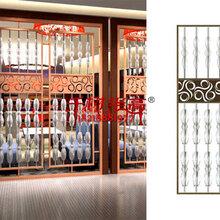 复古木纹铝雕花板窗花图片