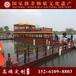 安徽黄山双层餐饮画舫船电动观光旅游手工木船水库电动客船