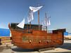 浙江景觀裝飾船廠家仿古海盜木船歐式木船