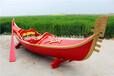 江蘇楚歌廠家供應湖南貢多拉手劃船觀光木船手工木船玻璃鋼游船