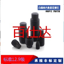 DIN91512.9级凸端紧定螺钉/圆柱端内六角无头螺丝钉/机米M12
