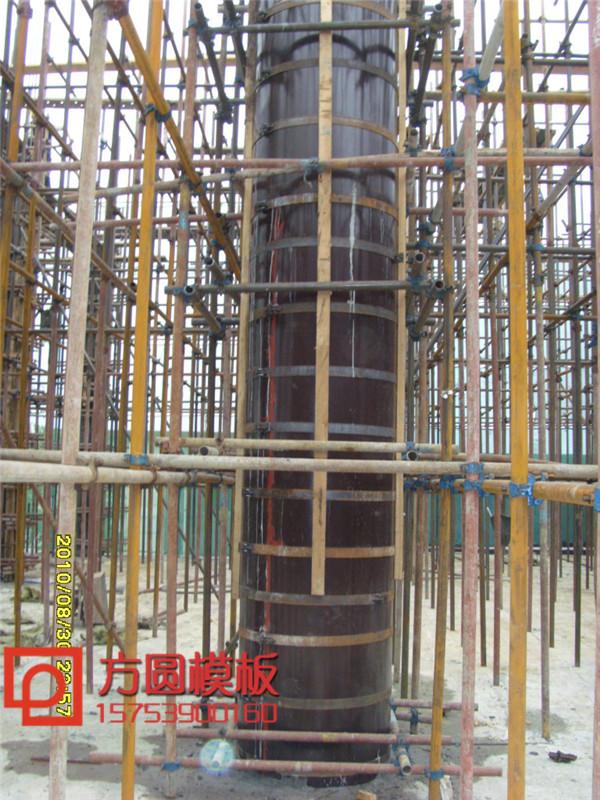 木圆柱模板_圆柱木模板规范_圆柱形模板加固安装方案