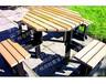 优质户外实木桌椅套件三亚海棠商业广场碳化防腐木长方形桌凳组合复古家具休闲套装