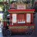 户外流动售货车肇庆景区商业街步行街实木售卖车怀集购物广场移动花车