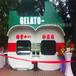 珠海景区木制售货车金湾步行街售货亭户外实木手推车