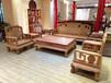 东阳红木新款国色天香沙发大果紫檀