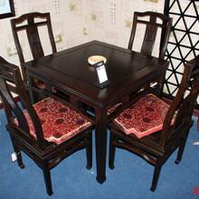 湖南义祥家具供应黑檀木方桌黑檀木桌子5件套红木家具红木桌子可定制品质保证