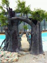 潍坊生态园大门施工,生态园假树大门工程承包