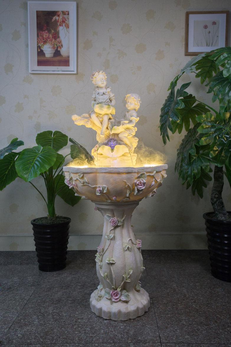 泉州智瑞工艺品创意礼品摆件厂家树脂工艺品喷泉流水陶瓷礼品摆件礼