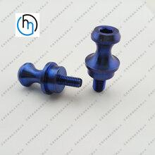 摩托车起车螺丝钉来图定做各种钛起车架螺丝CNC加工钛合金起车钉