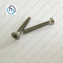 钛合金沉头内六角螺丝纯钛沉头内六角螺丝定做非标钛沉头内六角螺栓