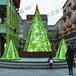 大型圣诞树厂家圣诞节装饰道具圣诞美陈LED亮化圣诞树钢构框架圣诞树