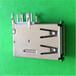 东莞2.0USB连接器短体侧插板式直边黑/白胶