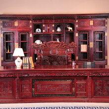 东阳和谐红木家具厂家直销实木家具大红酸枝家具办公系列红酸枝书柜