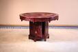 东阳和谐红木家具厂家直销大红酸枝餐厅组合圆桌系列象头圆桌