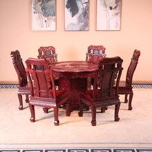 东阳和谐红木家具厂家直销酸枝木家具餐厅组合大红酸枝实木家具