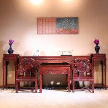 东阳和谐红木家具厂家直销实木家具酸枝木家具中堂组合大红酸枝木家具红酸枝中堂组合