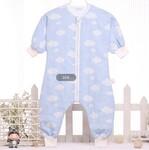 婴幼儿服饰纯棉纱布厂家雅赞品牌供应爬服睡袋系列产品