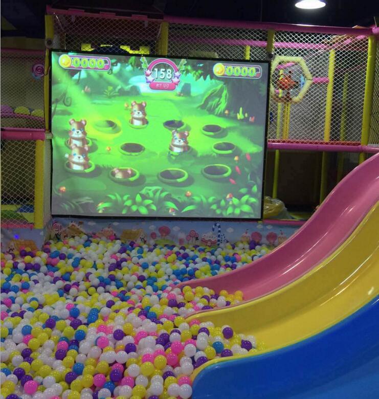 儿童投影互动设备砸球适用淘气堡儿童互动画画水族馆厂家