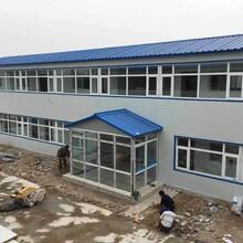 低价可回收岩棉板河北彩钢房焊接式防风张家口彩钢房图片