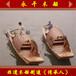 景區搖櫓烏篷船4-6人游船仿古觀光木船定制5米烏篷船