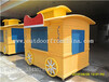 供应青海黄南木质景观移动售货车实木摆卖屋小木屋