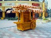 供应河南许昌商场木质移动售卖屋实木防腐售货亭摆卖车小吃车