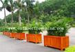 厂家定制直销厦门旅游景区木质景观花箱组合移动花车花架木质花盆