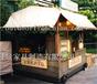 供应江苏扬州商业广场实木防腐售卖车移动小吃手推车饮料售卖屋