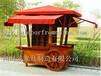 直销青海海北木质手推车饰品摆卖车移动小卖部小吃外卖车