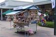 供应四川攀枝花户外实木防腐水果售卖车特产木质摆卖亭公园木质小吃车