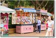 供应厂家直销安徽巢湖实木奶茶车木质售货车摆卖车糕点屋