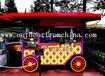 供应新疆乌鲁木齐街道实木烧烤车摆件摆卖车手推车
